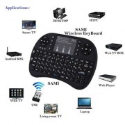 Mini 2.4Ghz Wireless Bluetooth Touch pad Keyboard With Mouse For Pc/Pad/360Xbox/Ps3/Google Android Tv Box/Htpc/Iptv 2.4G - Black By Sami