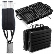 [pro.tec] Set de fiesta barbacoa plegable + Mochila dispensador de bebida