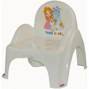 Olita tip scaunel muzical Little Princess - Tega Baby - Alb