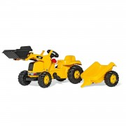 Rolly Toys Trattore a Pedali Rolly Toys con Ruspa e Rimorchio Cat OUTLET