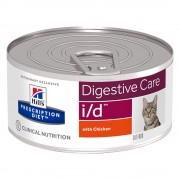 Hill's Prescription Diet Feline i/d Digestive Care, kurczak - 12 x 156 g Darmowa Dostawa od 89 zł
