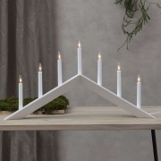 Arrow candleholder, shallow, 7-bulb, white
