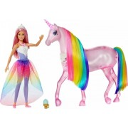 Set de joacă Unicornul Magic cu păpuşă, Barbie Dreamtopia (FXT26) Papusa Barbie