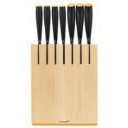 Fiskars Functional Form késblokk 7 késsel, nyers fa színű (200259)