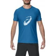 asics Graphic Hardloopshirt korte mouwen Heren blauw XL 2017 Hardloopshirts