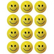 Generic Smiley Soft Balls (SET OF 12 ). hand masssas. and baby play balls. and smiley emotion gift.