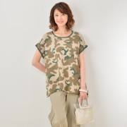 KawaiOkada 迷彩プルオーバー【QVC】40代・50代レディースファッション