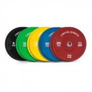 Nipton Conjunto Completo Placas de Peso Borracha 5 Pares de 5 a 25 kg