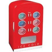 Retro chladničky s chrómovými doplnkami - 22L / 12 plechoviek