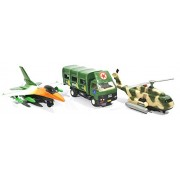 3 Combo Army Kit - Truck, Rescue helicopter, F16 Fire blade toys (Orange Green Green)