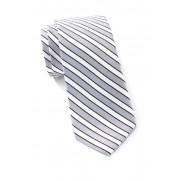 Ben Sherman Silk Nicholas Stripe Tie SILVER