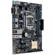Дънна платка Asus H110M-K, H110, LGA1151, DDR4, PCI-E(DVI&D-Sub), 4x SATA 6Gb/s, 2x USB3.0, mATX