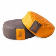 PRANA Narancs + Barna 2in1 kifordítható huzat 36x12 cm kerek jóga ülőpárnához