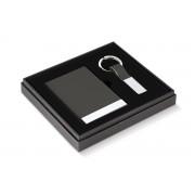 PHILIPPI Бизнес подарък TODD от 2 части - визитник и ключодържател - цвят антрацит