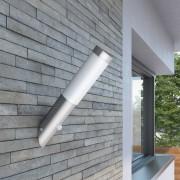 vidaXL RVS Kerti Lámpa Fali Lámpa Vízálló Mozgásérzékelő