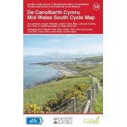 Fietskaart 14 Cycle Map Mid Wales - midden Wales | Sustrans