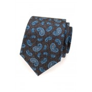 Pánská kravata hedvábná modrá paisley Avantgard 620-62907
