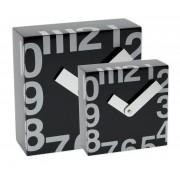 Ceas patrat de perete, 250 x 250 mm, cifre arabe, TIQ - lemn negru