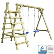 vidaXL Swing Set with Ladders 268x154x210 cm FSC Pinewood