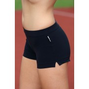 Pantalon scurt Ada, din microfibra negru L