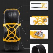 AST Works Car Tire Anti-Skid Belt Tire Chain Snow Ice Truck Thickened Beef Double-Buckle
