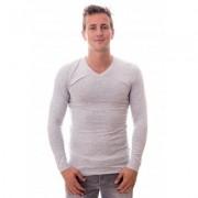Claesens Men Longsleeve V-neck Light Grey(CL 1024 )