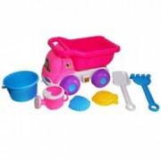 Jucarii pentru plaja si nisip - Camion roz cu accesorii pentru joaca in nisip