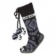 Log Cabin Homesocks (black) - skarpety domowe wzór norweski