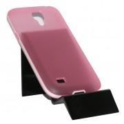 Силиконов калъф за Samsung i9190 Galaxy S4 mini с твърда лайсна Розов