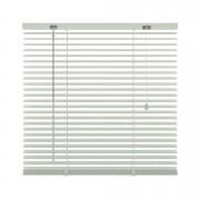 Horizontale jaloezie aluminium 25 mm - wit - 140x180 cm - Leen Bakker