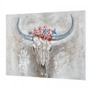 [art.work] Ručně malovaný obraz - býk - plátno napnuté na rámu - 90x120x3,8 cm
