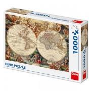 Puzzle Dino 1000 piese - Harta Lumii Antice