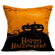 Halloween Decoration Pattern Car Sofa Pillowcase with Decorative Head Restraints Home Sofa Pillowcase E Size:43*43cm -HC3203E