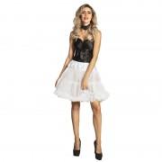 Merkloos Witte verkleed petticoat rok voor dames 45 cm