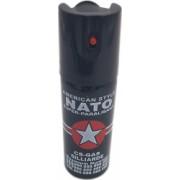 Spray paralizant iritant lacrimogen autoaparare cu piper NATO 60 ml negru