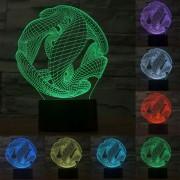Estilo Abstracto Decoloración Creativo Visual 3d Estereo Touch Control De Interruptor De La Lampara De Luz Led Lampara De Escritorio Luz De Noche, Tamaño Del Producto: 18,1 X 13,8 X 8,7 Cm