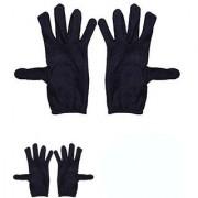 Nawani 2 Pair Cotton Full Hand Gloves Sun Protection Gloves for Women