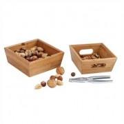 Set casse-noix et boîtes en bambou
