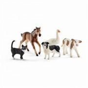 SET FIGURINE SCHLEICH - ANIMALUTE DIN LUMEA FERMEI - SL42386 - SCHLEICH