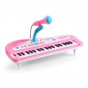 37-Key órgano Electrónico Del Teclado De Piano Con El Juguete Educativo Del Micrófono - Rosa