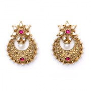 Indian Style Beaded Dangle Drop Fashionable Earrings Traditional Jhumka Jhumki Earrings for Women 18 PINK