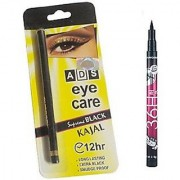 ADS Eye Kajal with Sketch Pen Eyeliner (Set of 2)