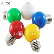 1W E26/E27 LED-bollampen A60 (A19) 8 SMD 2835 50-100 lm Koel wit 6000 K Decoratief AC 220-240 V