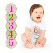 Pearhed Baby Milestone stikeri - roze