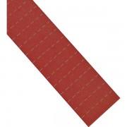 magnetoplan® ferrocard-Etiketten - HxB 15 x 80 mm, 3 VE à 115 Stk - rot