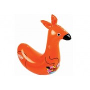 Orange Aussie Pool Pets Kangaroo Racer Pool Inflatable by Wahu