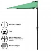 Чадър за слънце [casa.pro]® , полукръг, за стена 300 x 150 x 30 cm, Зелен