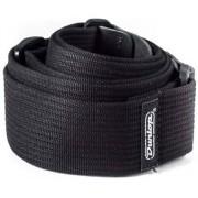 Dunlop D27-01BK Ribbed Cotton Strap Black