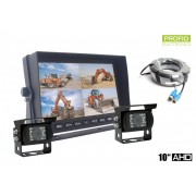 "Parkovací kamery s monitorem 10"" HD monitor + 2x HD kamera"
