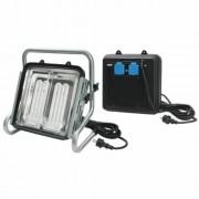 *Leuchte Power Jet-Light 2x36W IP54 5m H07RN-F3G1,5 CEE+Gestell silber